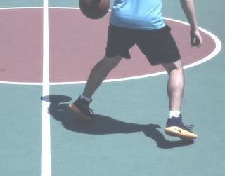 Basketball Schuhe auf dem Court
