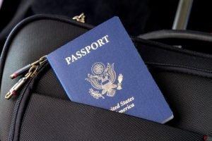 Tasche mit Reisepass